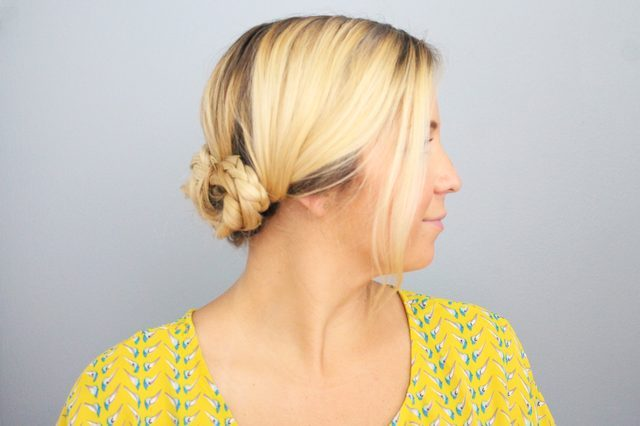 Quick DIY Braided Updo For Ladies
