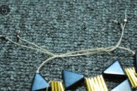 Unusual DIY Triangle Bead Bracelet 8