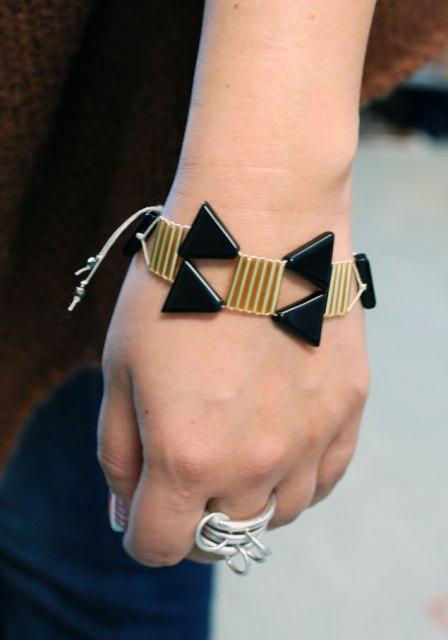 Unusual DIY Triangle Bead Bracelet