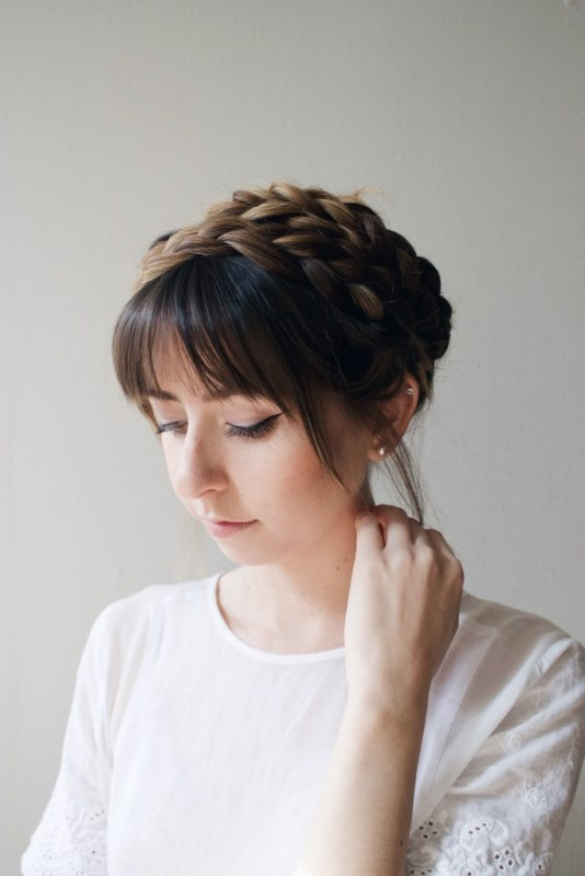 Cute DIY Milkmaid Braids For Thick Hair