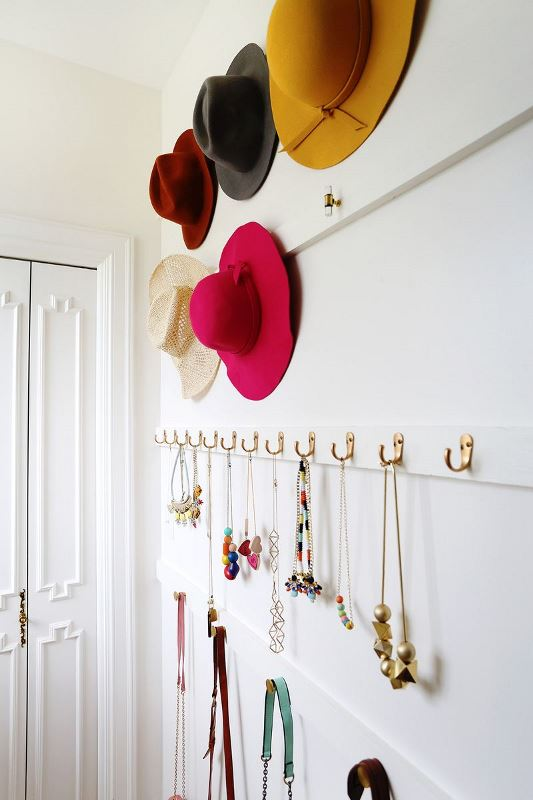 Cute DIY Open Closet Storage For Your Accessories