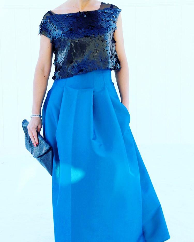 girlish diy top stitched pleat maxi skirt styleoholic