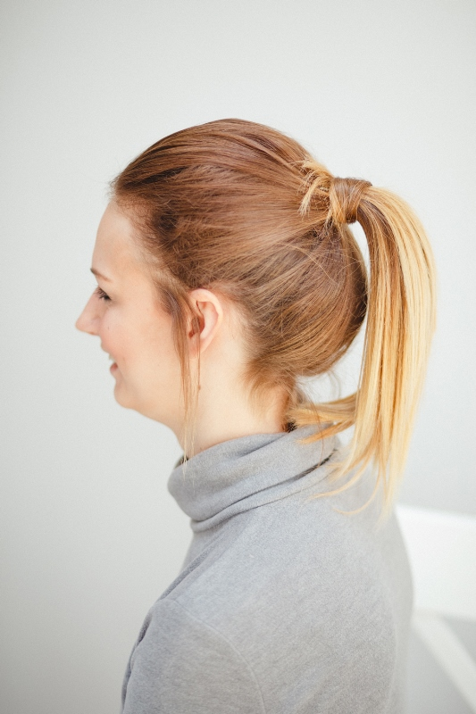 Easy-Breezy DIY Ponytail With Clip In Extensions