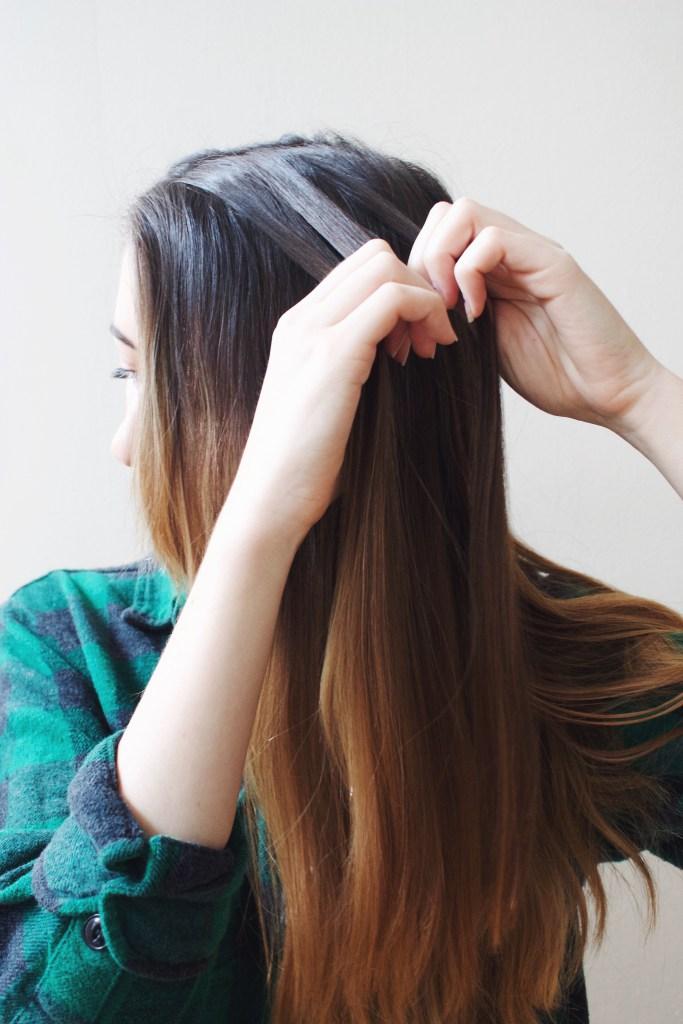 Simple braided hair