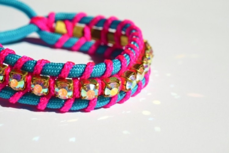 Shiny And Bright DIY Swarovski Crystal Friendship Bracelet