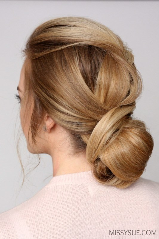 Sophisticated DIY Wrapped Low Bun Hair Updo
