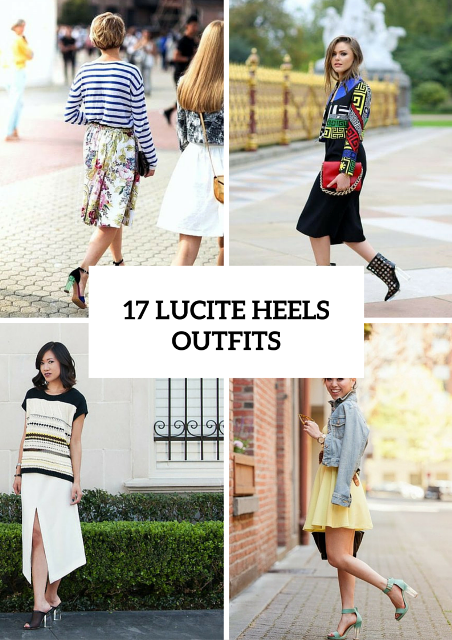 17 Chic Ways To Rock Fashionable Lucite Heels