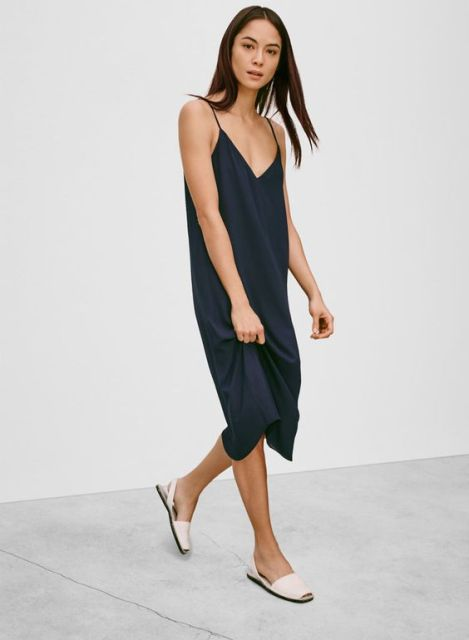 Summer Outfits With Simple Slip Dresses