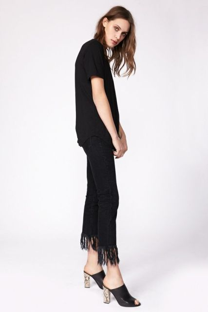 Picture Of Fashionable Fringed Jeans Ideas For This Season 13