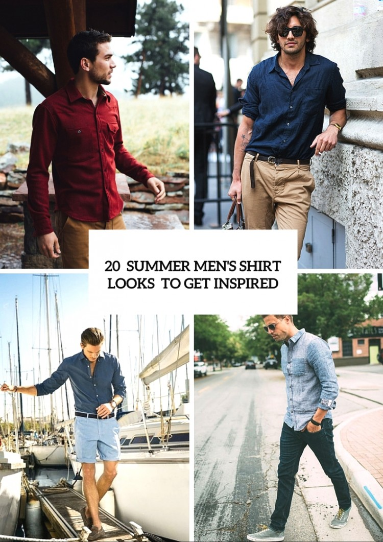 20 Casual Summer Men's Shirt Looks To Get Inspired