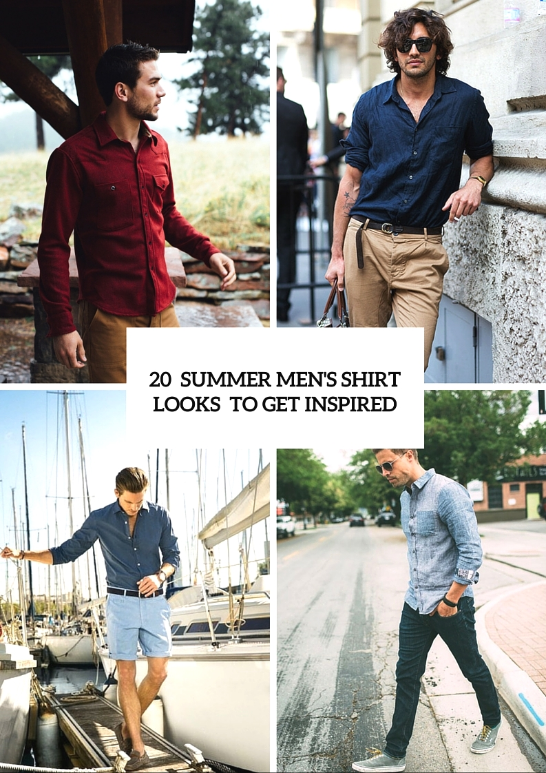 20 trendy casual summer mens shirt looks to get inspired