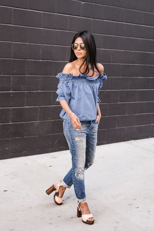 Picture Of best off the shoulder looks to recreate  21