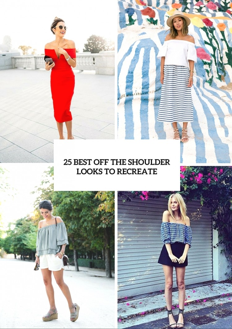 25 best off the shoulder looks to recreate