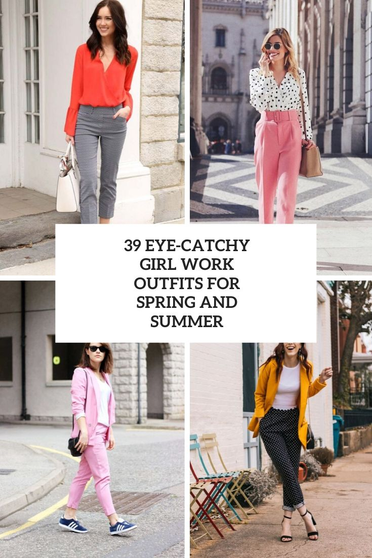 eye catchy girl work otufits for spring and summer cover