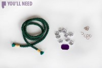 Beautiful DIY Rope And Crystal Statement Necklace 2