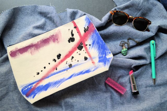Creative And Bold DIY Canvas Pouch