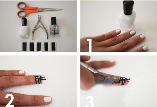 Picture Of Easy To Make DIY Louis Vuitton Inspired Check Nail Art 5