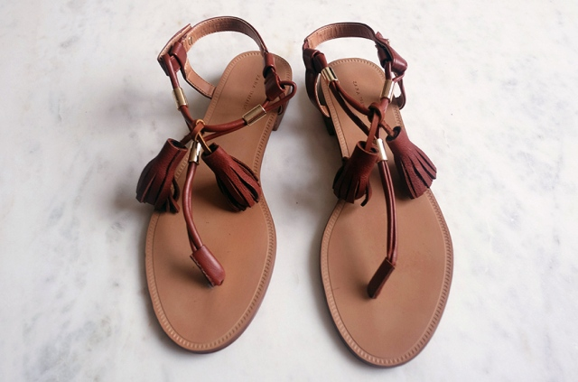 Easy To Make DIY Tassel Sandals For Summer