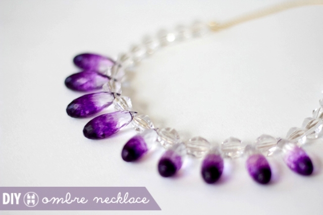 Eye-Catching DIY Clear Ombre Necklace