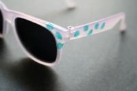 Funny DIY Jungle Leaf Print Sunglasses