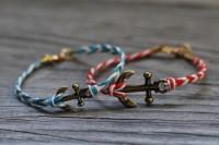 Nautical DIY Fishtail Braided Anchor Bracelet