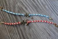 Nautical DIY Fishtail Braided Anchor Bracelet 3