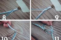 Nautical DIY Fishtail Braided Anchor Bracelet 6