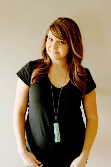 Simple DIY Leather Tassel Necklace