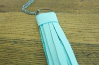 Simple DIY Leather Tassel Necklace 8