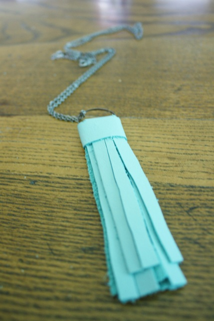 Picture Of Simple DIY Leather Tassel Necklace 8
