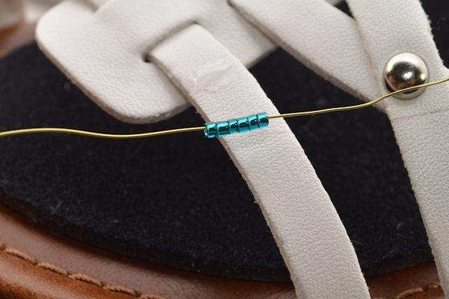 Unique DIY Beaded Strappy Sandals