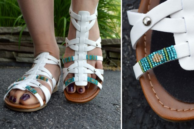Unique DIY Beaded Strappy Sandals