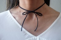 Very Easy-To-Make DIY Bow Chokers