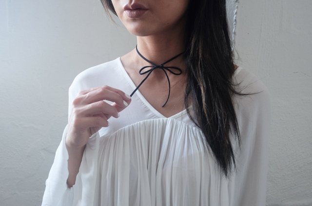 Very Easy To Make DIY Bow Chokers