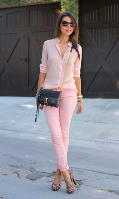Picture Of chic and girlish rose quartz outfits for spring  7
