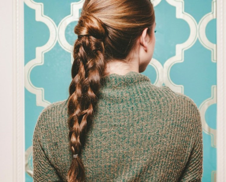 Chic DIY Double Braided Ponytal For A Second Day Hair