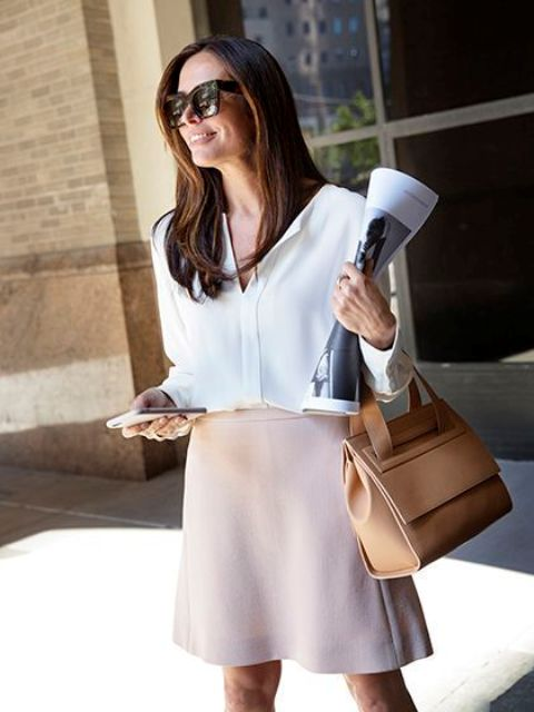 Picture Of chic neutral work outfits to recreate right now  25
