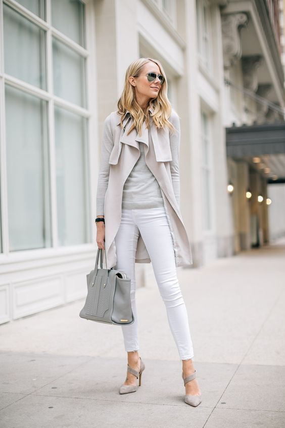 Picture Of chic neutral work outfits to recreate right now  31