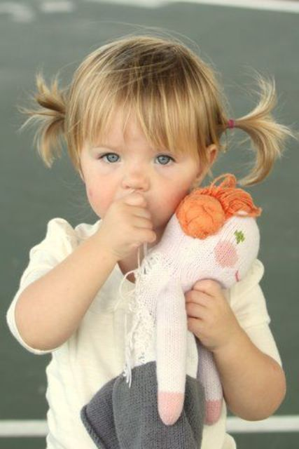 17 Cutest Piggy Tails Hair Ideas For Little Girls