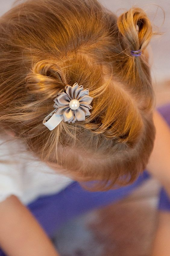 Picture Of cutest piggy tails hair ideas for little girls  6