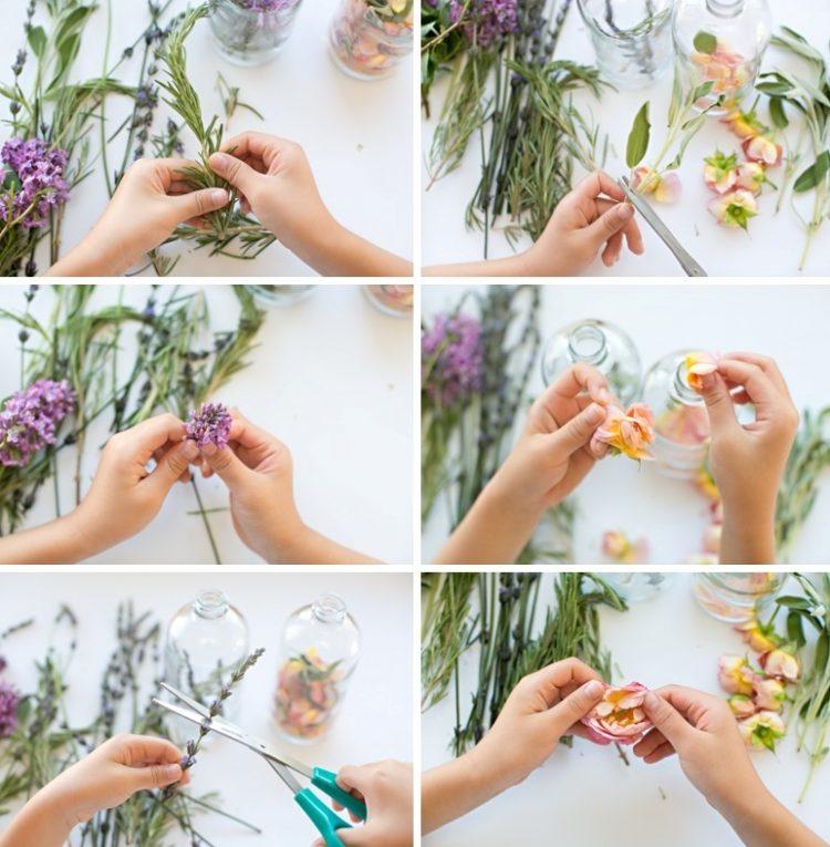 DIY All Natural Floral Herb Perfume