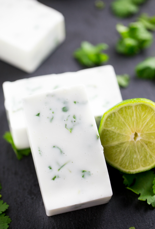 DIY Refreshing Lime Cilantro Soap