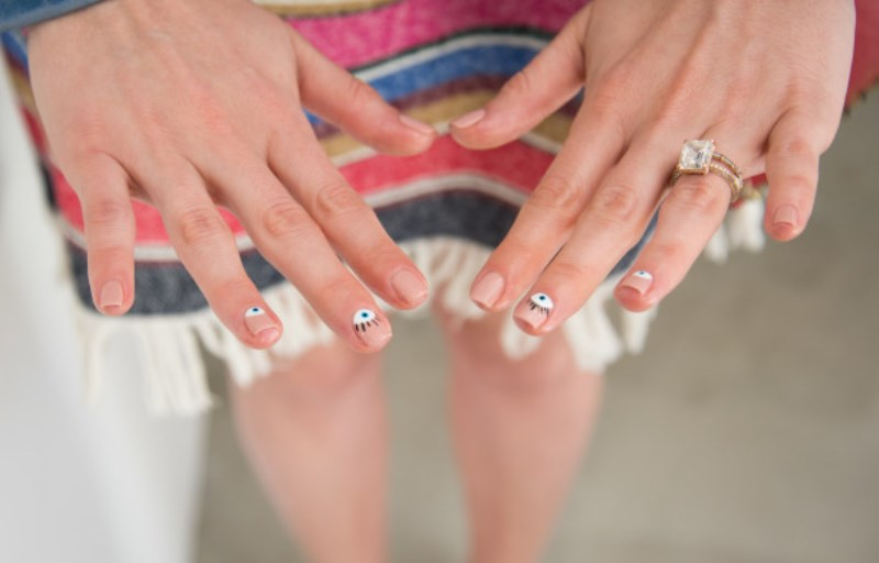 Picture Of easy breezy and trendy diy evil eye nail art to try  1