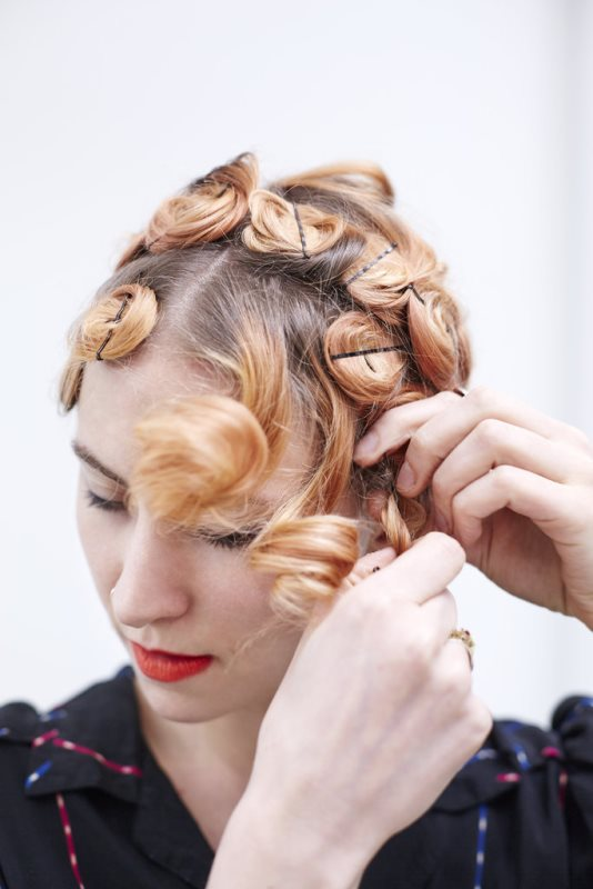 Picture Of easy diy pin curls to try  4