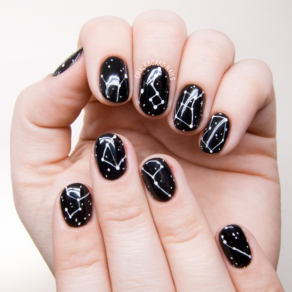 Galaxy Inspired DIY Constellations Nail Art To Try , Styleoholic