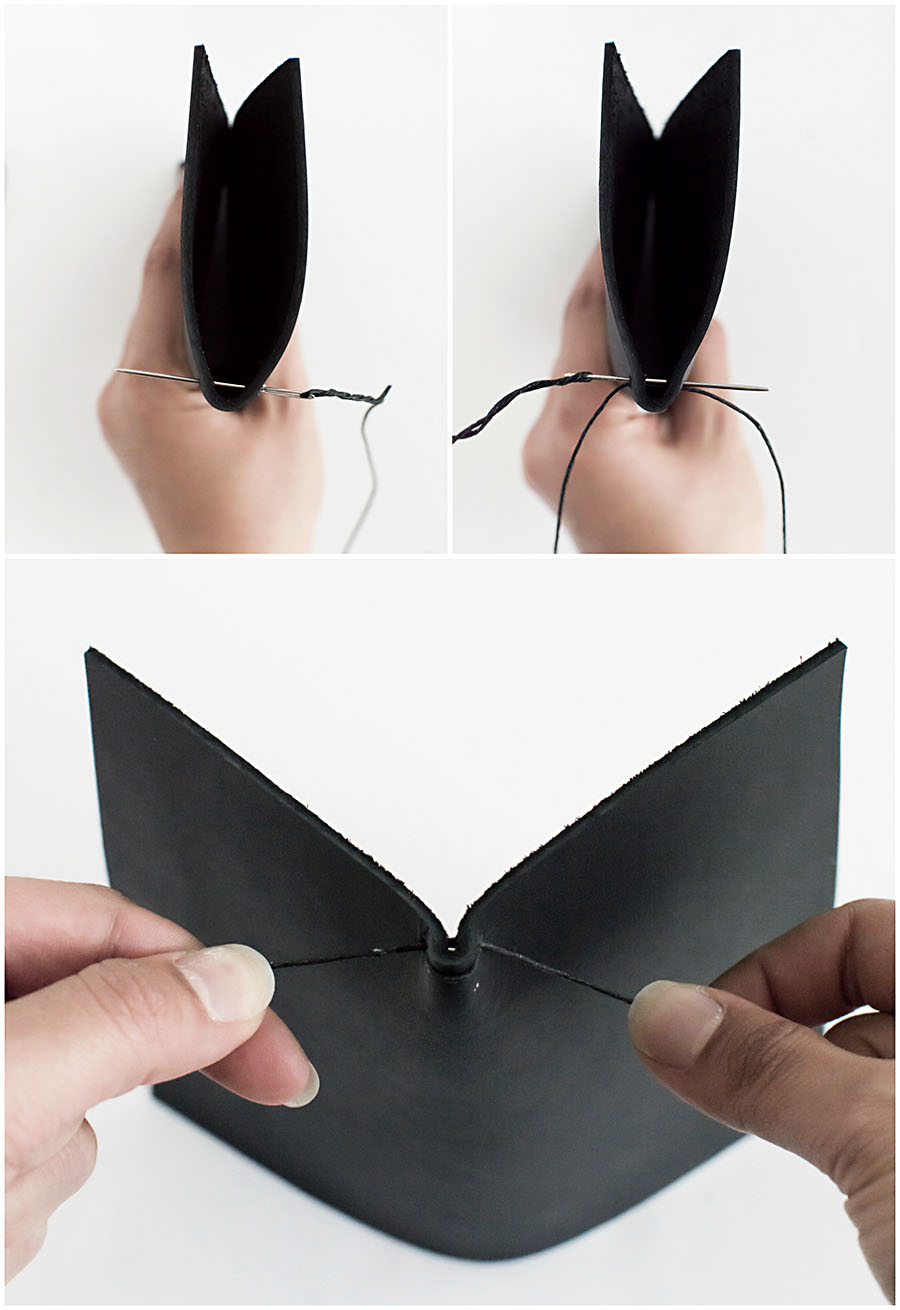 Picture Of minimalist diy leather sunglasses pouch  7