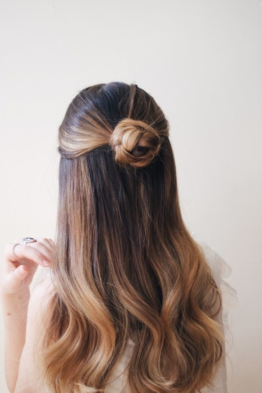 Romantic Sleek DIY Braided Bun To Make