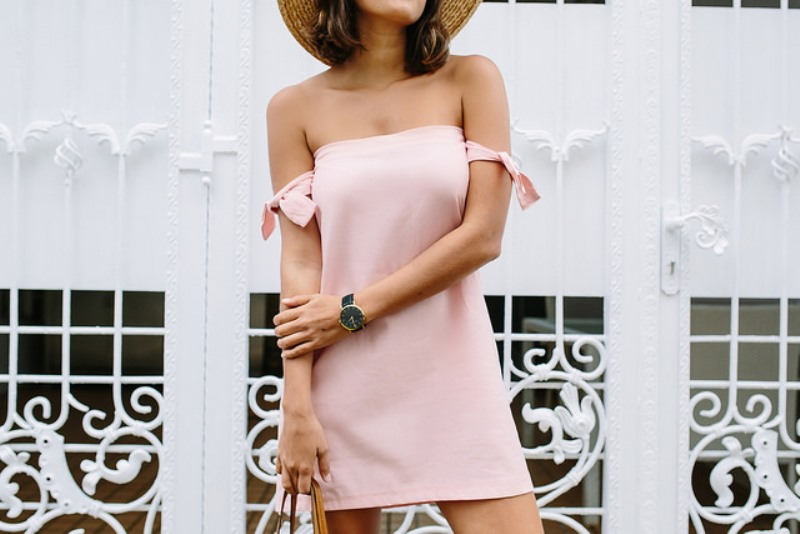 Picture Of trendy diy off the shoulder dress to make for summer  2