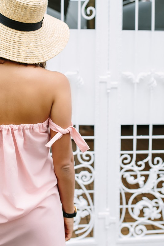 Picture Of trendy diy off the shoulder dress to make for summer  3