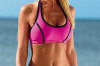 04 bold pink sporty bikini